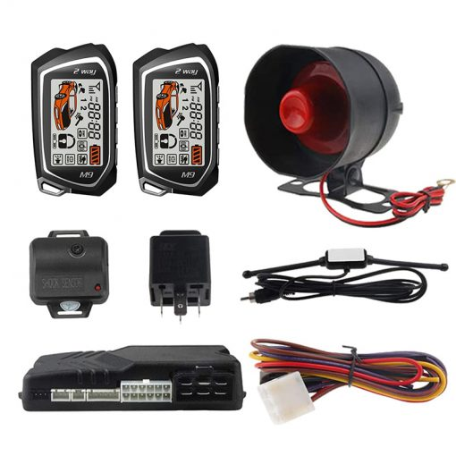 Germany Spy Two Way Car Alarm System Engine Start 2 LCD Remote 5000M Long Range Security Two-way Communication 836