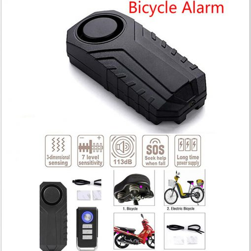 More Safe 113dB Anti-Theft Remote Motorcycle Bicycle Security Alarm Padlock Siren Cool Alarm Remote For Xiaomi Padlock Siren