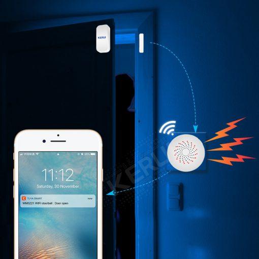 KERUI Tuya WIFI Multifunctional Gateway Security Alarm System WIFI Doorbell Notification Alert Intelligent Control