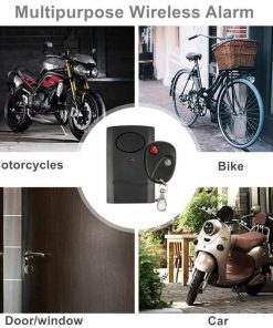 120dB 9V Motorcycle Wireless Bluetooth Remote Motor Moto Scooter Anti-Theft Security Alarm Car Door Window Accessories X6HB