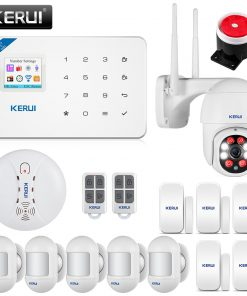 KERUI Home Security Alarm System W18 GSM WIFI Connection Mobile APP Receiving Color Screen Wireless Security Burglar Alarm Kit