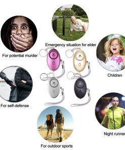 5pcs/lot Self Defense Alarm 130Db Security Protect Alert With LED Light Personal Safety Emergency Alarm For Children Women Girl