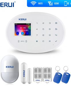 KERUI W20 Wifi Gsm APP Rfid Control Touch Screen Alarm Wireless GSM SMS Intruder Security Alarm System PIR Motion
