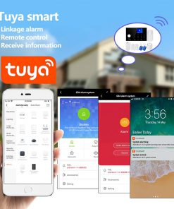 G34 3G 4G WIFI GSM 4G Alarm System Tuya App Control Home Security Buglar Alarm 2.4inch Full Touch 4G GSM Color Screen Panel