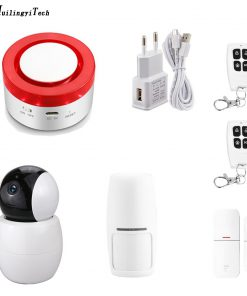 Tuya Smart Life Home Security Intelligent WIFI GSM Home Burglar Security Alarm System Motion Detector APP Remote Control