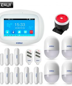 KERUI K52 4.3 Inch Touch Screen App Control Wireless GSM WIFI Home Security Alarm System Sensor Burglar Alarm Device For Door