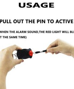 Portable Practical 125db Personal Security Alarm Keychain Alarm Emergency Self Defense Safe Siren for Woman Student Kid