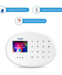 KERUI W20 Smart Alarm System Security Home Alarm Residencial WiFi GSM Wireless 2.4 inch Touch Panel Burglar Alarm System
