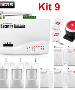 FUERS Wireless GSM10A APP Control Alarm System Home Garage Motion Sensor Russia/English/Spanish Voice Security Auto Dial DIY Kit