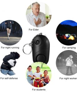 3PCS Personal Alarm 130dB Sound Emergency Defensa Personal Self Defense Security Alarm Keychain LED Flashlight forWomen Elderly