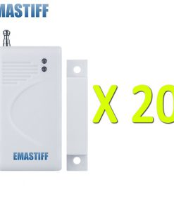 Free shipping White 10/20/50/100 pcs wireless Door magnetic sensor High quality new Home Burglar GSM Security Alarm System