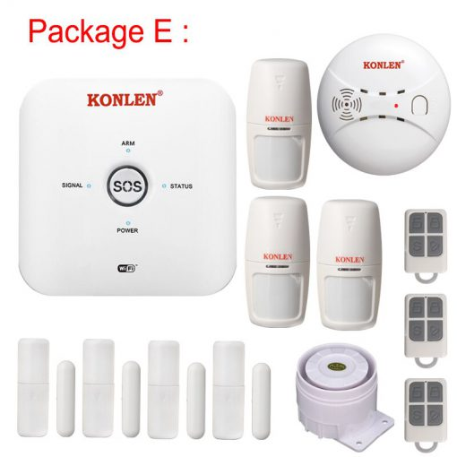 KONLEN Tuya Smart Life MINI WIFI GSM Home Security Alarm System Wireless with IP Video Camera Alexa Google Home Voice Control