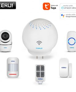 KERUI Tuya WIFI Multifunctional Gateway Security Alarm System WIFI Doorbell Notification Alert Intelligent Control