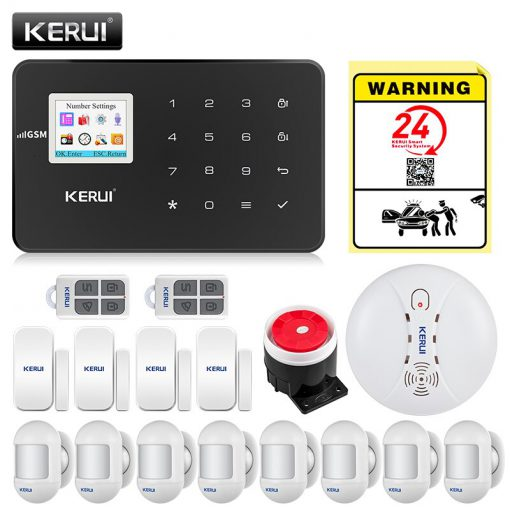 KERUI G18 GSM Alarm Systems For Home Security Systems APP Wireless Burglar Alarm Fire Protection Motion Sensor Security Alarm