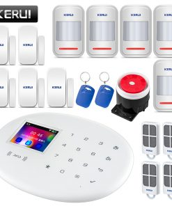 KERUI W20 Security Alarm System for Home Wireless Smart RFID SIM GSM Burglar Keyboard IOS Android APP Control Siren Alarm Kits