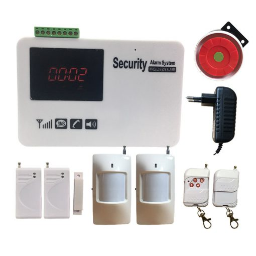 Free Shipping Gsm Sms Security Alarm System Screen Touch Wireless Home Alarm System with Motion Detecter DIY Kit