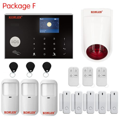 Tuya Smart WIFI 2G/ 4G 3G GSM Home Security Alarm System Burglar Kit Wireless Wired With Google Alexa IP Camera House Protection